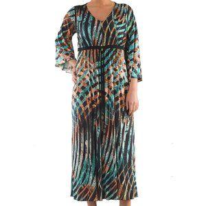 Kimono Dress with Print - Plus Size Collection